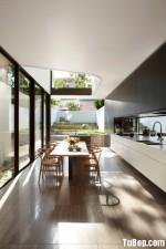 Tủ bếp gỗ công nghiệp Acrylic màu trắng – TBB 1760