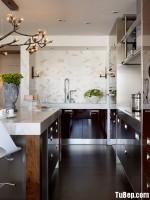 Tủ bếp gỗ công nghiệp Acrylic màu nâu bóng gương – TBB 1783