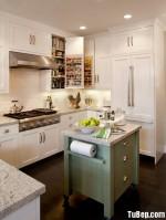 Tủ bếp gỗ Sồi sơn men phong cách đơn giản – TBB 1786