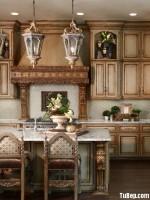 Tủ bếp Sồi cổ điển quý phái cao cấp có đảo – TBN3798
