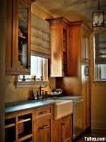 Tủ bếp xoan đào chữ I nhỏ gọn cho bếp diện tích hẹp – TBN3806
