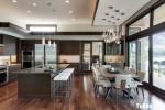Tủ bếp MFC Melamine vân gỗ sang trọng cho gian bếp lớn – TBN4441