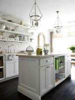 Trang trí bếp thanh lịch với sắc trắng