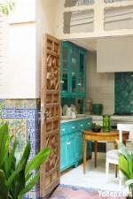Tủ bếp gỗ sồi phong cách vintage xinh xắn – TBN4809
