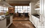 Tủ bếp gỗ xoan đào sơn trắng nhỏ xinh – TBN4748