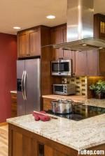 Tủ bếp tần bì chữ U thiết kế tinh tế – TBN4820