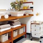 Cách lưu trữ khăn tắm gọn gàng và đẹp mắt