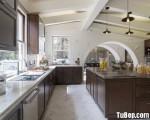 Tủ bếp gỗ Tần bì tự nhiên sơn trầm lịch lãm – TBN4937