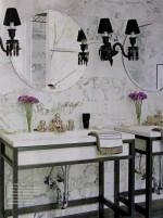 Phòng tắm sang trọng, quyến rũ với đá cẩm thạch
