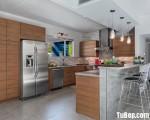 Tủ bếp MFC Laminate thiết kế chữ U hiện đaị – TBN4902