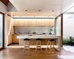 Tủ bếp MDF Laminate lõi xanh chống ẩm có quầy bar  – TBN4901