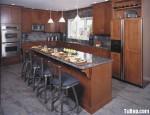 Tủ bếp gỗ Xoan Đào kiểu chữ L được thiết kế đơn giản mang phong cách tân cổ điển – TBT2281