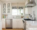 Tủ bếp chữ L chất liệu Sồi Mỹ sơn trắng men cao cấp – TBN5032