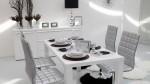 Phòng ăn bắt mắt với 2 màu trắng và đen