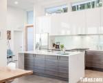 Tủ bếp chữ I chất liệu MFC Laminate kết hợp bàn đảo dành cho căn hộ chung cư – TBN5770