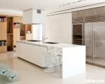 Tủ bếp gỗ Acrylic thiết kế phong cách hiện đại với chữ I – TBT2747