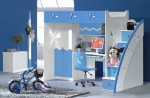 Căn phòng màu xanh đầy cá tính cho các bé trai