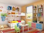 Phòng cho bé ấn tượng với các sắc màu