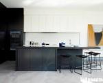 Tủ bếp chữ I chất liệu Acrylic kết hợp bàn đảo – TBN6048