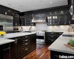 Tủ bếp gỗ Căm Xe chữ U kết hợp với phụ kiện cao cấp – TBT2786