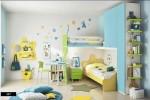 Bố trí giường tầng cùng các màu sắc rực rỡ trong phòng bé yêu