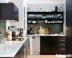 Tủ bếp thiết kế dạng chữ L chất liệu MFC Laminate cho không gian nhỏ – TBN6451