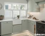 Tủ bếp Xoan đào dạng chữ L đơn giản – TBN6666