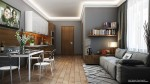 Không gian phòng ăn tinh tế với các màu sắc hài hòa