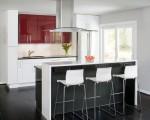 Tủ bếp gỗ công nghiệp màu trắng sang trọng thiết kế chữ I – TBT3306