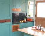 Tủ bếp gỗ công nghiệp vân gỗ sang trọng thiết kế chữ I – TBT3307