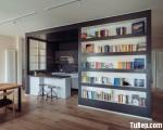 Tủ bếp gỗ Laminate thiết kế ấn tượng với không gian hẹp – TBT3087