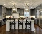 Tủ bếp gỗ tự nhiên phủ sơn dầu  sang trọng thiết kế chữ L – TBT3305