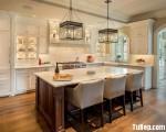 Tủ bếp gỗ Xoan Đào chữ I đơn giản – TBT3110