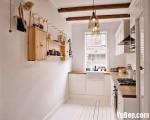 Tủ bếp chữ L chất liệu Acrylic giá rẻ – TBN6456