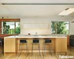 Tủ bếp gỗ Laminate chữ I đơn giản nhưng hiện đại – TBT3192