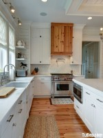 Tủ bếp gỗ Xoan Đào thiết kế hài hòa đơn giản – TBT3144