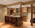 Tủ bếp Laminate kết hợp bàn đảo xinh xắn – TBN3556