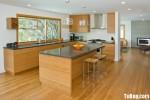 Tủ bếp Laminate dạng chữ L có bàn đảo phong cách hiện đại – TBB3765