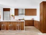 Tủ bếp Laminate chữ L phong cách Châu Âu – TBB3793