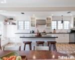 Tủ bếp chất liệu Xoan đào thiết kế chữ I kết hợp bàn đảo – TBN3921