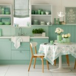 Những góc bếp xanh mát mắt cho mùa hè