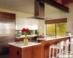 Tủ bếp gỗ Laminate màu vân gỗ thiết kế hiện đại – TBT3461