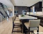 Tủ bếp gỗ Laminate màu vân gỗ sang trọng tinh tế – TBT3397