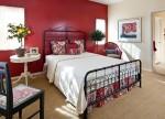 Kết hợp ba sắc màu trắng, đen, đỏ đẹp mắt cho không gian phòng ngủ