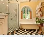 Gam màu beige và kem đầy thư giãn cho phòng tắm