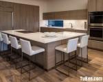 Tủ bếp gỗ MDF Laminate vân giả gỗ ấn tương – TBN7020