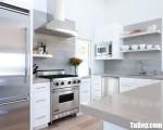 Tủ bếp gỗ Acrylic màu trắng chữ U thiết kế hiện đại – TBT3521