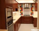 Tủ bếp gỗ Căm Xe thiết kế đẹp hài hòa – TBT3518