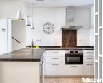 Tủ bếp gỗ Acrylic màu trắng sang trọng chữ L – TBT3517