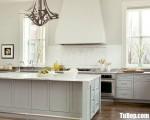 Tủ bếp gỗ Dỗi chữ I thiết kế có bàn đảo tiện dụng – TBT3563